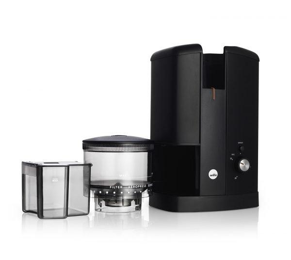 Svart Wilfa elektrisk kaffekvarn